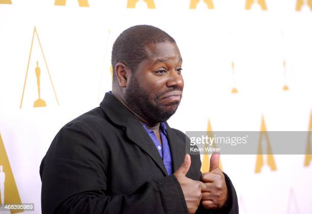 Director Steve McQueen attends the 86th Academy Awards nominee luncheon at The Beverly Hilton Hotel on February 10 2014 in Beverly Hills California