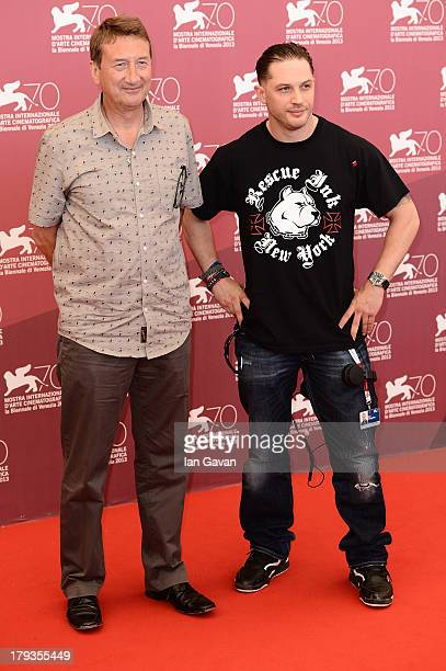 Director Steven Knight and actor Tom Hardy attend the 'Locke' Photocall during the 70th Venice International Film Festival at the Palazzo del Casino...