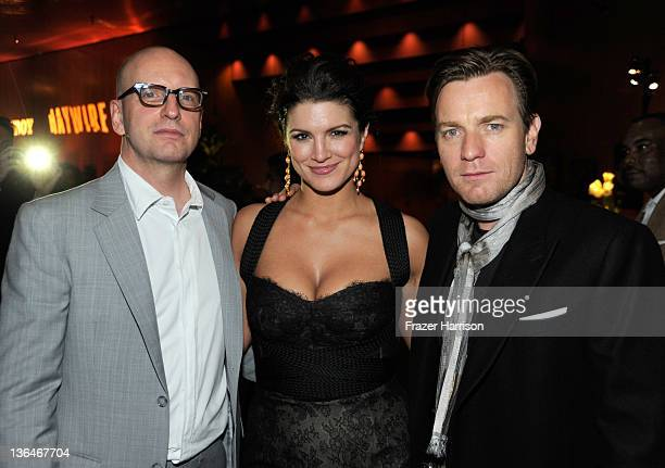 Director Steven Soderbergh actress Gina Carano and actor Ewan McGregor attend Relativity Media's premiere of 'Haywire' after party cohosted by...