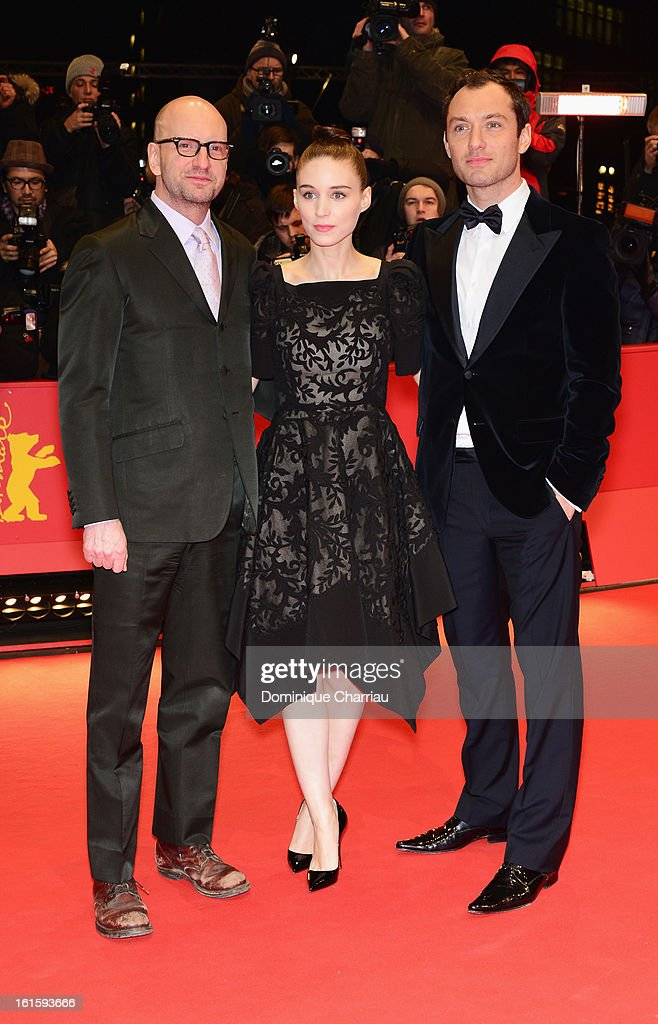 Director Steven Soderbergh actress Rooney Mara and actor Jude Law attend the 'Side Effects' Premiere during the 63rd Berlinale International Film...