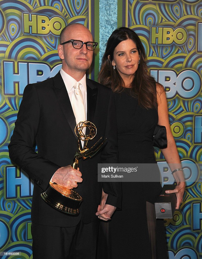 Director <a gi-track='captionPersonalityLinkClicked' href=/galleries/search?phrase=Steven+Soderbergh&family=editorial&specificpeople=215049 ng-click='$event.stopPropagation()'>Steven Soderbergh</a> (L) and <a gi-track='captionPersonalityLinkClicked' href=/galleries/search?phrase=Jules+Asner&family=editorial&specificpeople=2530962 ng-click='$event.stopPropagation()'>Jules Asner</a> attend HBO's Post Emmy Awards party at Pacific Design Center on September 22, 2013 in West Hollywood, California.