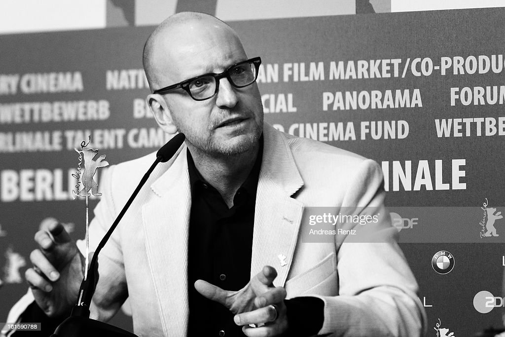 Director <a gi-track='captionPersonalityLinkClicked' href=/galleries/search?phrase=Steven+Soderbergh&family=editorial&specificpeople=215049 ng-click='$event.stopPropagation()'>Steven Soderbergh</a> attends the 'Side Effects' press conference during the 63rd Berlinale International Film Festival at the Grand Hyatt Hotel on February 12, 2013 in Berlin, Germany.