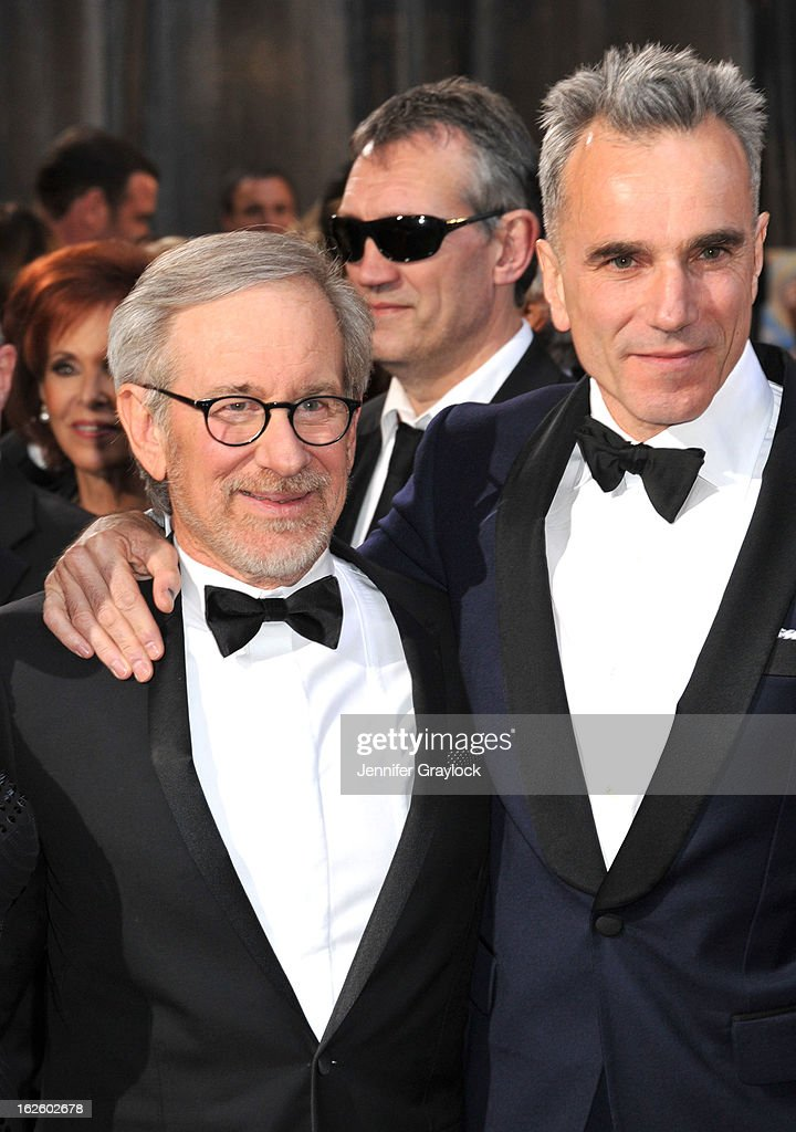 Director Steven Spielberg and actor Daniel Day-Lewis attend the 85th Annual Academy Awards held at the Hollywood & Highland Center on February 24, 2013 in Hollywood, California.