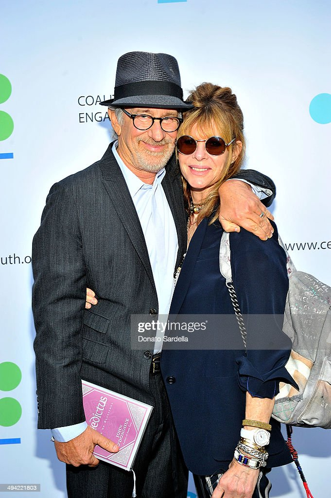 Director Steven Spielberg (L) and actress Kate attend the first annual Poetic Justice Fundraiser for the Coalition For Engaged Education at the Herb Alpert Educational Village on May 28, 2014 in Santa Monica, California.