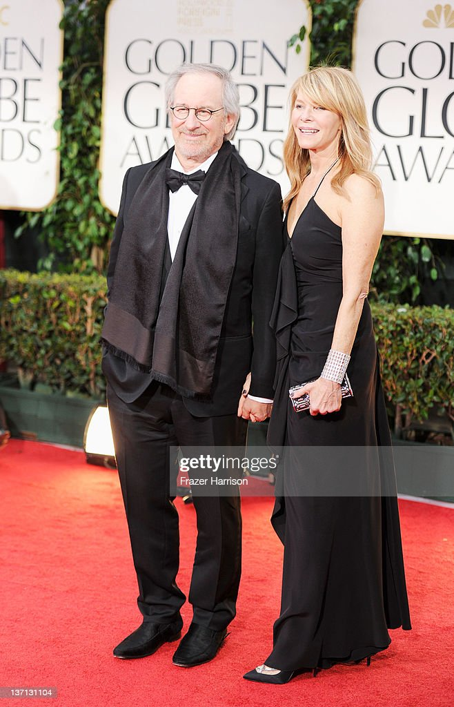 Director Steven Spielberg and actress Kate Capshaw arrive at the 69th Annual Golden Globe Awards held at the Beverly Hilton Hotel on January 15 2012...