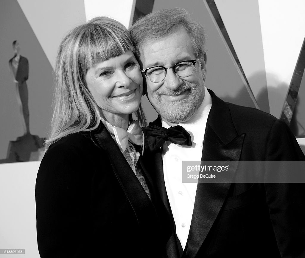 Director <a gi-track='captionPersonalityLinkClicked' href=/galleries/search?phrase=Steven+Spielberg&family=editorial&specificpeople=202022 ng-click='$event.stopPropagation()'>Steven Spielberg</a> and actress <a gi-track='captionPersonalityLinkClicked' href=/galleries/search?phrase=Kate+Capshaw&family=editorial&specificpeople=204585 ng-click='$event.stopPropagation()'>Kate Capshaw</a> arrive at the 88th Annual Academy Awards at Hollywood & Highland Center on February 28, 2016 in Hollywood, California.