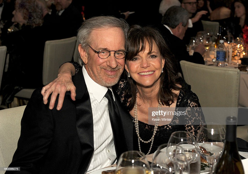 Director <a gi-track='captionPersonalityLinkClicked' href=/galleries/search?phrase=Steven+Spielberg&family=editorial&specificpeople=202022 ng-click='$event.stopPropagation()'>Steven Spielberg</a> and actress <a gi-track='captionPersonalityLinkClicked' href=/galleries/search?phrase=Sally+Field&family=editorial&specificpeople=206350 ng-click='$event.stopPropagation()'>Sally Field</a> attend the 65th Annual Directors Guild Of America Awards at Ray Dolby Ballroom at Hollywood & Highland on February 2, 2013 in Los Angeles, California.