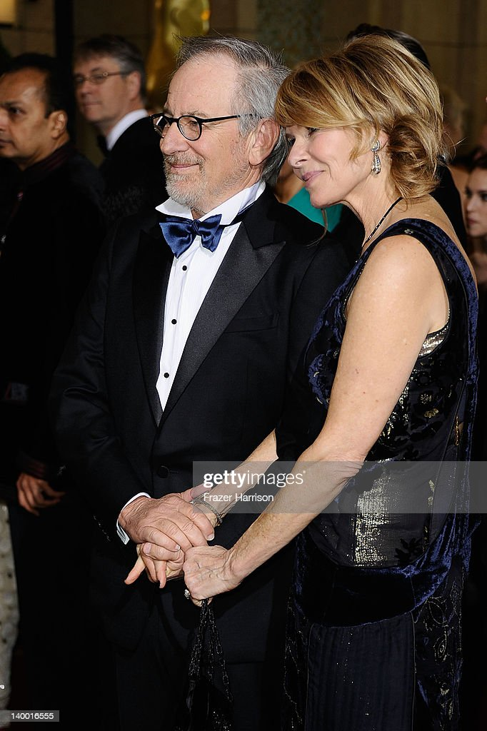 Director Steven Spielberg and his wife Kate Capshaw arrive at the 84th Annual Academy Awards held at the Hollywood Highland Center on February 26...