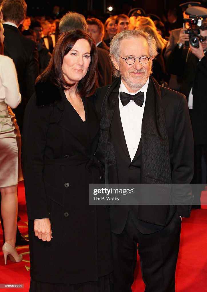 Director <a gi-track='captionPersonalityLinkClicked' href=/galleries/search?phrase=Steven+Spielberg&family=editorial&specificpeople=202022 ng-click='$event.stopPropagation()'>Steven Spielberg</a> and Producer Kathleen Kennedy attend the UK premiere of War Horse at Odeon Leicester Square on January 8, 2012 in London, England.