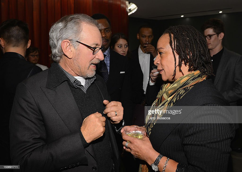 Director Steven Spielberg and S. Epatha Merkerson attend NYFF 50th Anniversary surprise screening of Lincoln at Alice Tully Hall on October 8, 2012 in New York City.