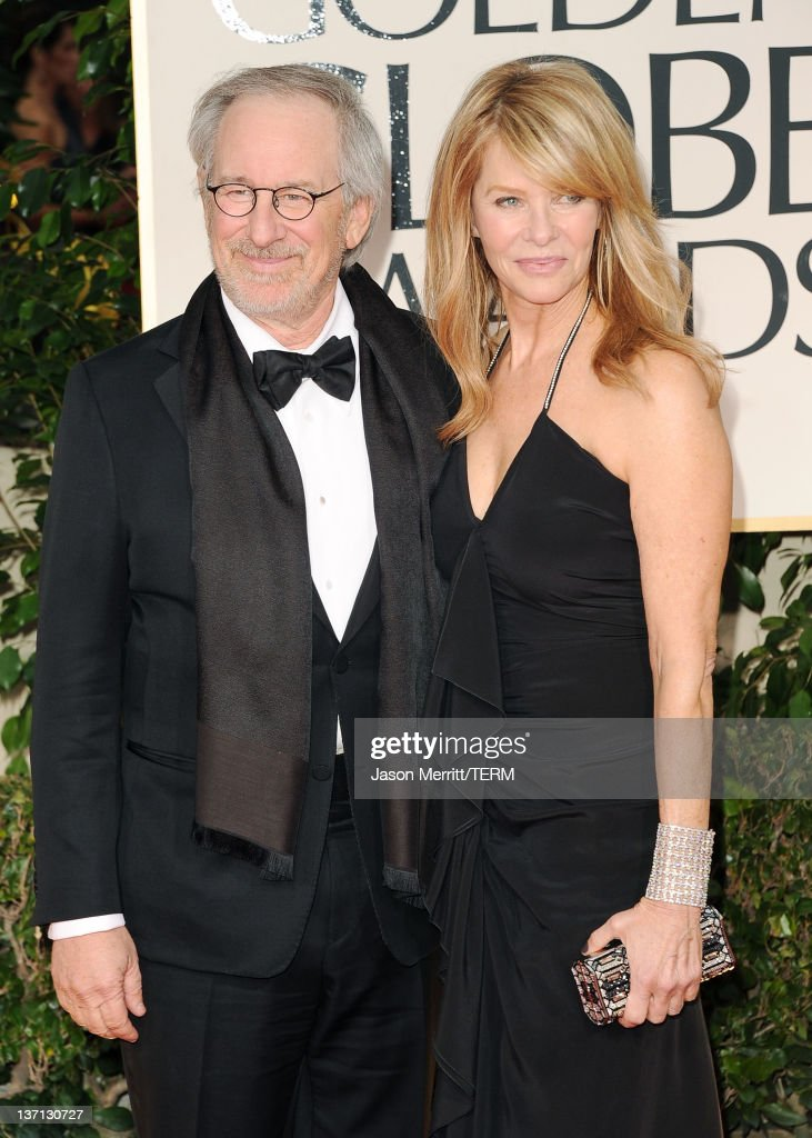 Director Steven Spielberg and wife Kate Capshaw arrive at the 69th Annual Golden Globe Awards held at the Beverly Hilton Hotel on January 15 2012 in...