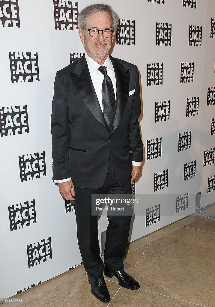 Director Steven Spielberg arrives at the 63rd Annual ACE Eddie Awards held at The Beverly Hilton Hotel on February 16, 2013 in Beverly Hills, California.