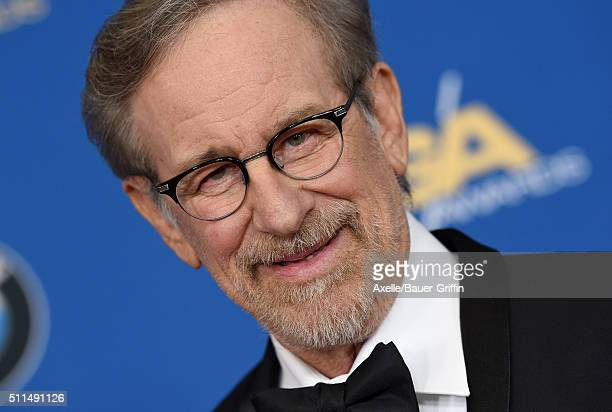 Director Steven Spielberg arrives at the 68th Annual Directors Guild of America Awards at the Hyatt Regency Century Plaza on February 6 2016 in Los...