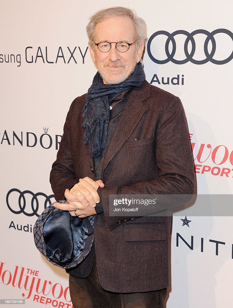 Director Steven Spielberg arrives at The Hollywood Reporter Nominees' Night 2013 Celebrating 85th Annual Academy Award Nominees at Spago on February 4, 2013 in Beverly Hills, California.