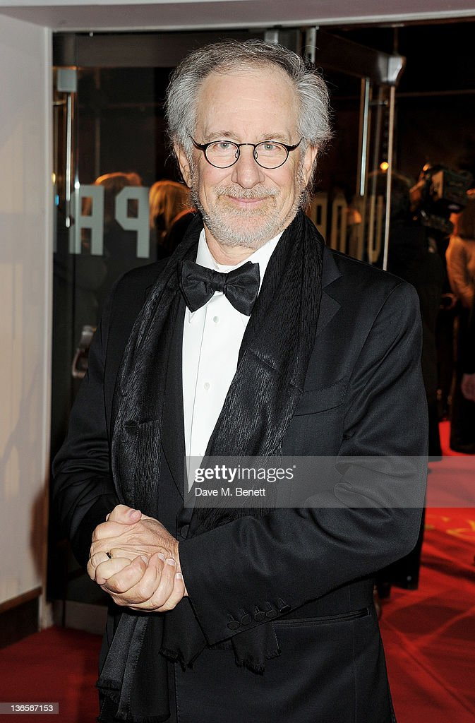 Director <a gi-track='captionPersonalityLinkClicked' href=/galleries/search?phrase=Steven+Spielberg&family=editorial&specificpeople=202022 ng-click='$event.stopPropagation()'>Steven Spielberg</a> arrives at the UK Premiere of 'War Horse' at Odeon Leicester Square on January 8, 2012 in London, England.