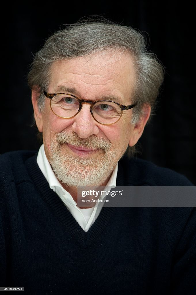 Director <a gi-track='captionPersonalityLinkClicked' href=/galleries/search?phrase=Steven+Spielberg&family=editorial&specificpeople=202022 ng-click='$event.stopPropagation()'>Steven Spielberg</a> at the 'Bridge of Spies' Press Conference at the Mandarin Oriental Hotel on October 4, 2015 in New York City.