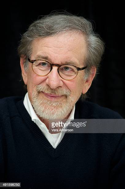 Director Steven Spielberg at the 'Bridge of Spies' Press Conference at the Mandarin Oriental Hotel on October 4 2015 in New York City