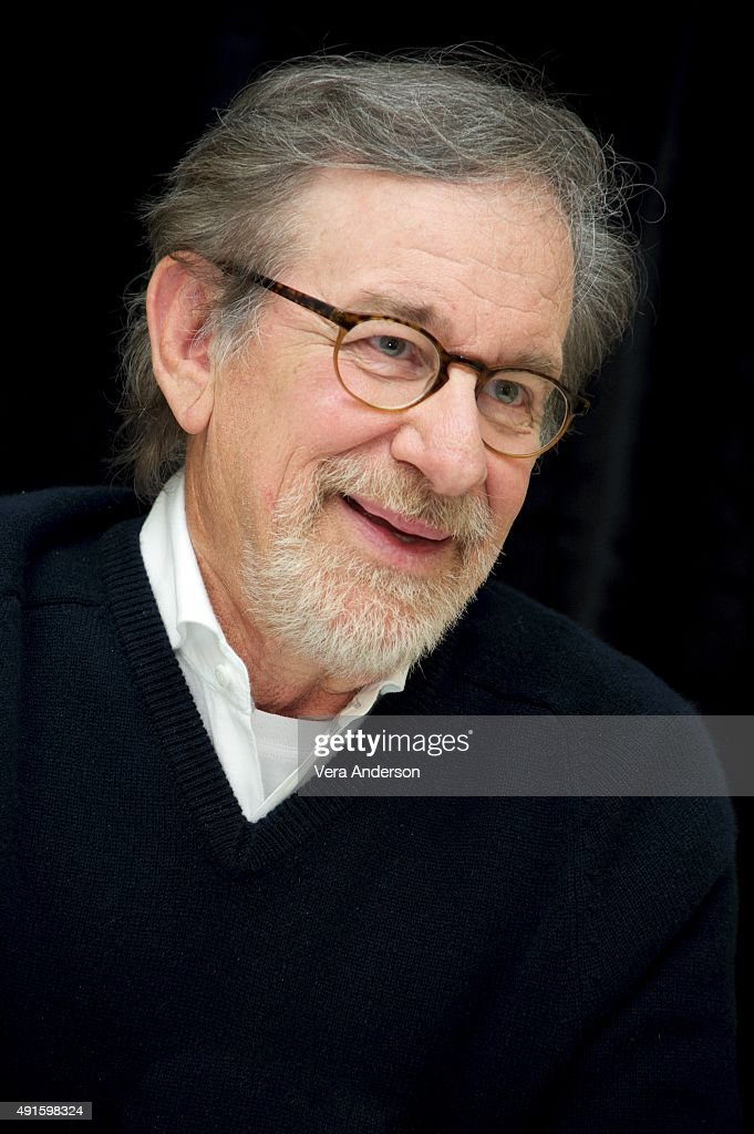 Director Steven Spielberg at the 'Bridge of Spies' Press Conference at the Mandarin Oriental Hotel on October 4, 2015 in New York City.