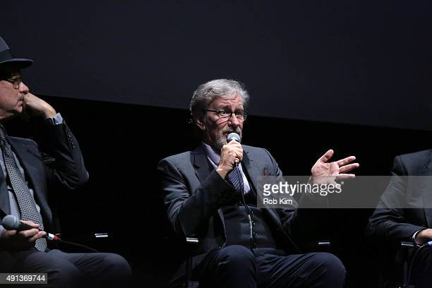 Director Steven Spielberg attends a QA for the film 'Bridge Of Spies' during the 53rd New York Film Festival at Alice Tully Hall Lincoln Center on...