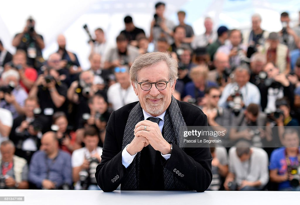 Director Steven Spielberg attends 'The BFG (Le Bon Gros Geant - Le BGG)' photocall during the 69th annual Cannes Film Festival at the Palais des Festivals on May 14, 2016 in Cannes, France.