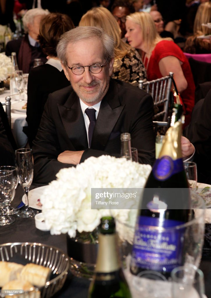 Director <a gi-track='captionPersonalityLinkClicked' href=/galleries/search?phrase=Steven+Spielberg&family=editorial&specificpeople=202022 ng-click='$event.stopPropagation()'>Steven Spielberg</a> attends the Critics' Choice Movie Awards 2013 with Champagne Nicolas Feuillatte at Barkar Hangar on January 10, 2013 in Santa Monica, California.