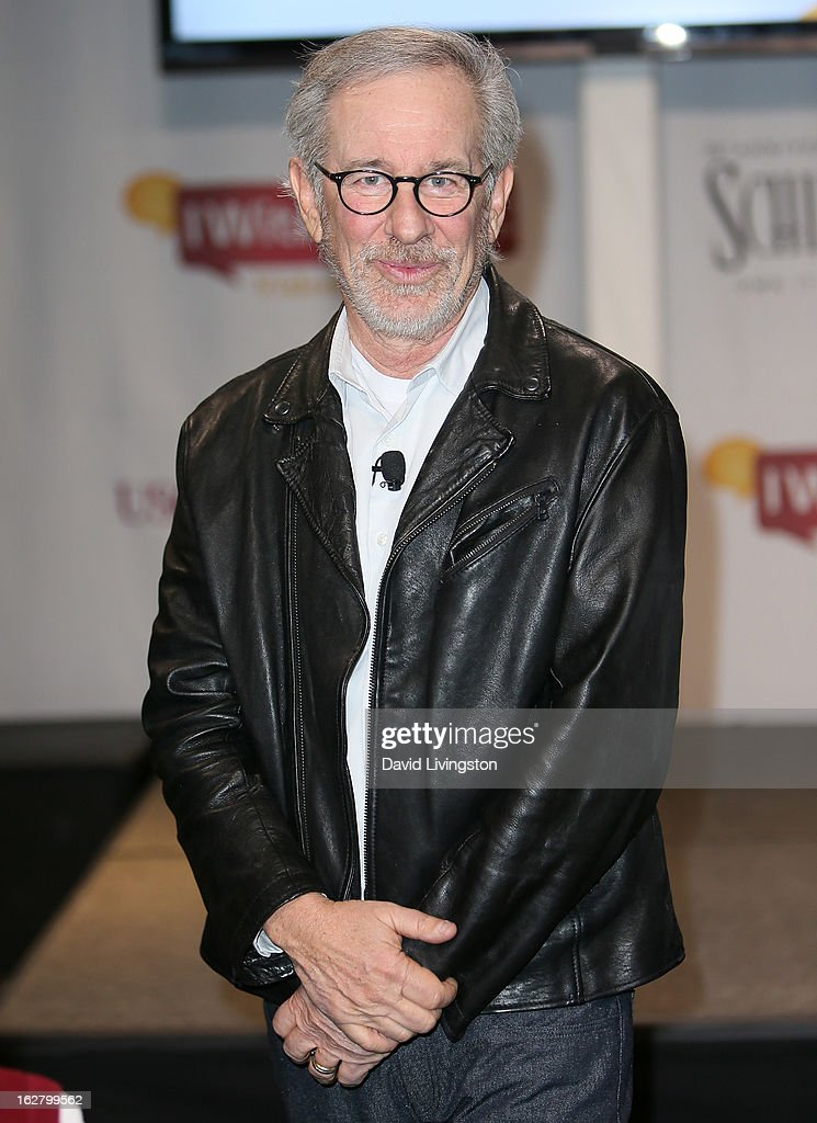 Director <a gi-track='captionPersonalityLinkClicked' href=/galleries/search?phrase=Steven+Spielberg&family=editorial&specificpeople=202022 ng-click='$event.stopPropagation()'>Steven Spielberg</a> attends the 'Schindler's List' 20th Anniversary Limited Edition DVD/Blu-ray & USC Shoah Foundation's IWitness Video Challenge launch event at The Chandler School on February 27, 2013 in Pasadena, California.