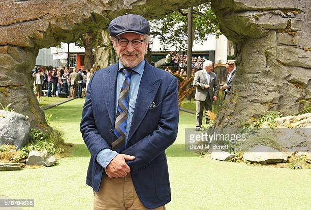 Director Steven Spielberg attends the UK Premiere of 'The BFG' at Odeon Leicester Square on July 17 2016 in London England