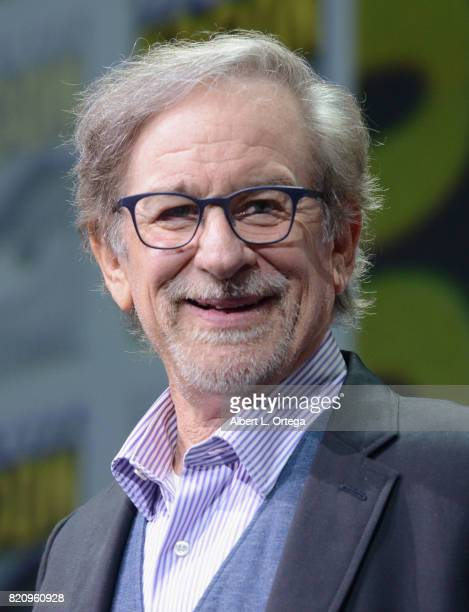 Director Steven Spielberg attends the Warner Bros Pictures 'Ready Player One' Presentation during ComicCon International 2017 at San Diego Convention...