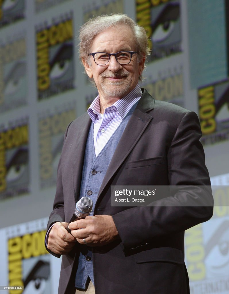 Director Steven Spielberg attends the Warner Bros. Pictures 'Ready Player One' Presentation during Comic-Con International 2017 at San Diego Convention Center on July 22, 2017 in San Diego, California.