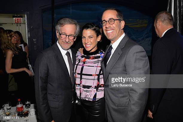 Director Steven Spielberg Jessica Seinfeld and Jerry Seinfeld attend the USC Shoah Foundation Institute 2013 Ambassadors for Humanity gala at the...