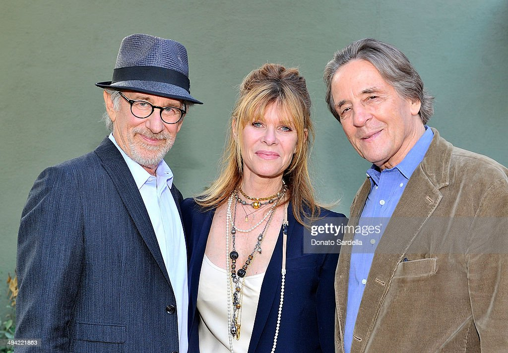 Director Steven Spielberg, Kate Capshaw and Founder, President and CEO of Coalition For Engaged Education Paul Cummins attend the first annual Poetic Justice Fundraiser for the Coalition For Engaged Education at the Herb Alpert Educational Village on May 28, 2014 in Santa Monica, California.