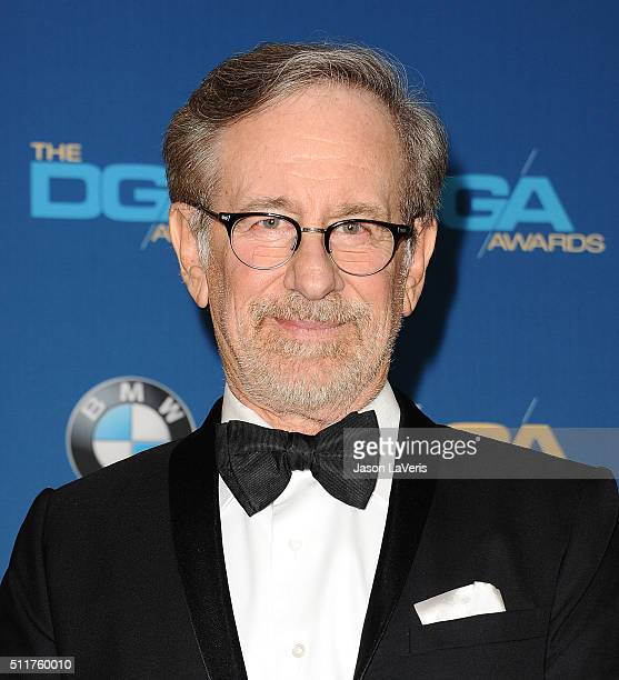 Director Steven Spielberg poses in the press room at the 68th annual Directors Guild of America Awards at the Hyatt Regency Century Plaza on February...