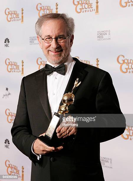 Director Steven Spielberg poses with the Cecil B Demille award at the 66th Annual Golden Globe Awards in Beverly Hills California US on Sunday Jan 11...