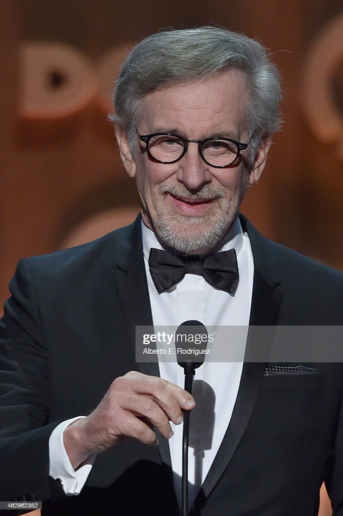 Director <a gi-track='captionPersonalityLinkClicked' href=/galleries/search?phrase=Steven+Spielberg&family=editorial&specificpeople=202022 ng-click='$event.stopPropagation()'>Steven Spielberg</a> speaks onstage at the 67th Annual Directors Guild Of America Awards at the Hyatt Regency Century Plaza on February 7, 2015 in Century City, California.