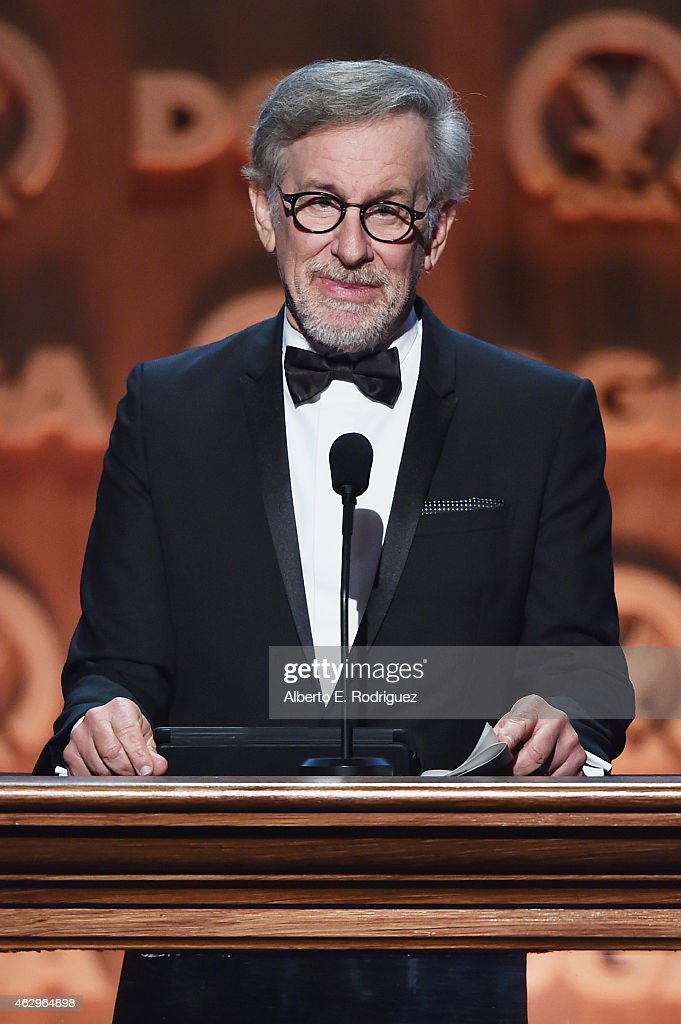 Director Steven Spielberg speaks onstage at the 67th Annual Directors Guild Of America Awards at the Hyatt Regency Century Plaza on February 7, 2015 in Century City, California.