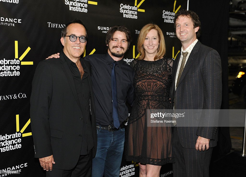 Director, Sundance Film Festival John Cooper, actor Jason Ritter, executive Director, Sundance Institute Keri Putnam and director of Programming Trevor Groth arrive at the Sundance Institute Benefit presented by Tiffany & Co. in Los Angeles held at Soho House on June 6, 2012 in West Hollywood, California.