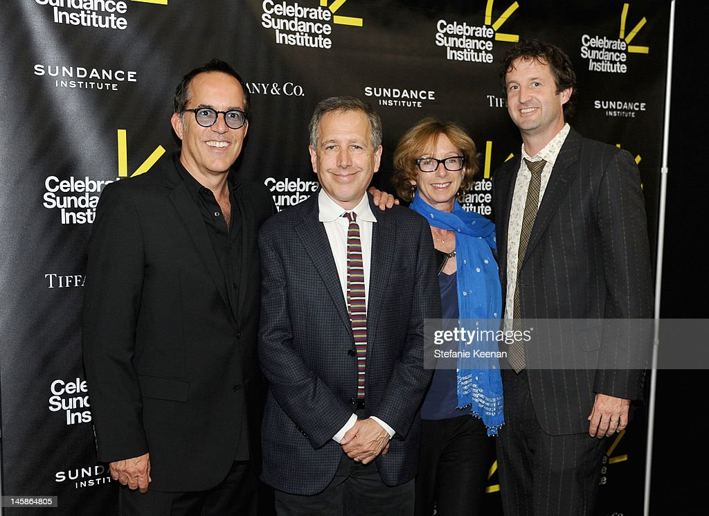 Director, Sundance Film Festival John Cooper, director, Sundance Institute Film Music Program Peter Golub, Founding director of the Sundance Institute's Feature Film Program Michelle Satter and director of Programming Trevor Groth arrive at the Sundance Institute Benefit presented by Tiffany & Co. in Los Angeles held at Soho House on June 6, 2012 in West Hollywood, California.