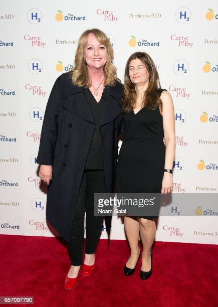 Director Susan Johnson and novelist Caren Lissner attend the 'Carrie Pilby' New York screening at Landmark Sunshine Cinema on March 23 2017 in New...