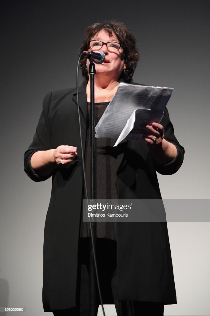 Director Susan Lacy speaks onstage during 55th New York Film Festival screening of 'Spielberg' at Alice Tully Hall on October 5, 2017 in New York City.