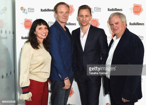 Director Susanne Bier actor Alistair Petrie actor Tom Hiddleston and producer Simon Cornwell attend the BFI Radio Times TV Festival at BFI Southbank...