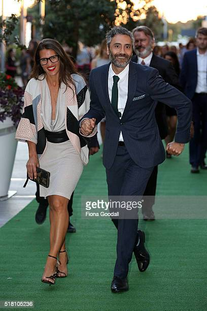 Director Taika Waititi arrives ahead of the New Zealand premiere of Hunt For The Wilderpeople on March 30 2016 in Auckland New Zealand