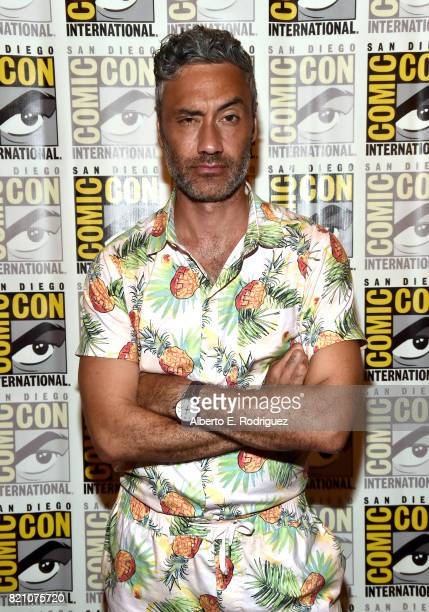 Director Taika Waititi from Marvel Studios' 'Thor Ragnarok' at the San Diego ComicCon International 2017 Marvel Studios Panel in Hall H on July 22...