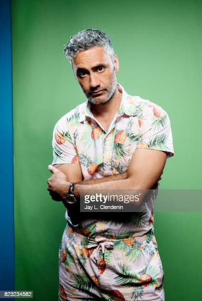 Director Taika Waititi of Marvel's 'ThorRagnarok' poses for a portrait at San Diego Comic Con for Los Angeles Times on July 21 2017 in San Diego...