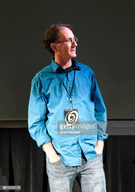 Director Tal Skloot leads Q and A after the screening of the film 4 Wheel Bob at the Santa Cruz Film Festival at Tannery Arts Center on October 14...