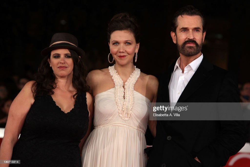 Director Tanya Wexler, actress Maggie Gyllenhaal and actor Rupert Everett attend the 'Hysteria' Premiere during the 6th International Rome Film Festival at Auditorium Parco Della Musica on October 28, 2011 in Rome, Italy.