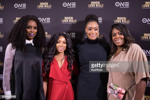 Director Tasha Smith actress Niatia quotLil' Mamaquot Kirkland who plays Falicia Blakely Tami Roman who plays Stacey and D'Angela Proctor TV One VP...