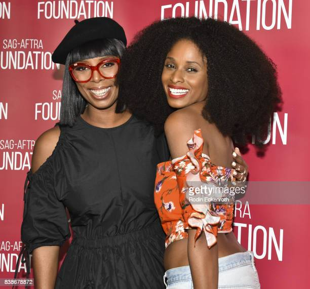 Director Tasha Smith and actress Tiffany Black pose for portrait at SAGAFTRA Foundation Conversations with 'When Love Kills' at SAGAFTRA Foundation...