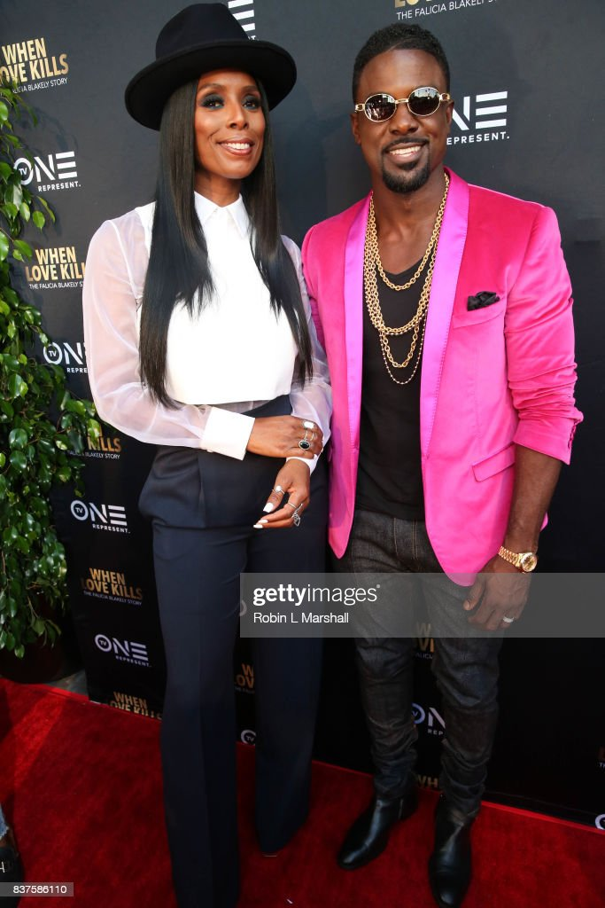 Director Tasha Smith and Lead Actor Lance Gross attend the LA premiere of TV One's 'When Love Kills' at Harmony Gold on August 22, 2017 in Los Angeles, California.