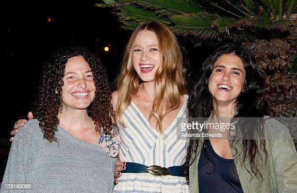 Director Tatiana von Furstenberg actress Amy Ferguson and director Francesca Gregorini attend a special Gen Art screening of 'Tanner Hall' at W Los...