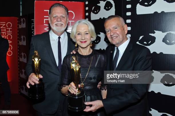 Director Taylor Hackford actress Helen Mirren and Michael Kutza attend the 2017 Cinema Chicago Spring Gala at Loews Hotel Chicago on May 24 2017 in...
